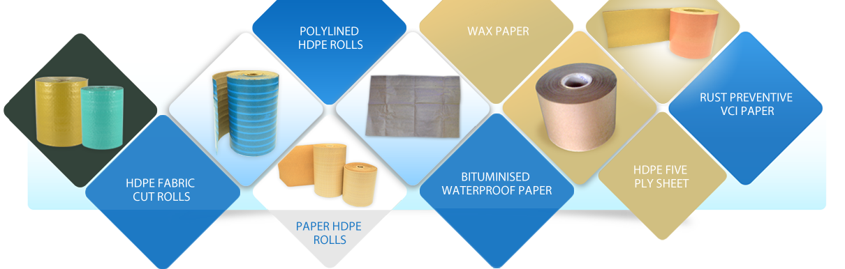Paper HDPE Rolls, Wax, VCI Paper Manufacturer